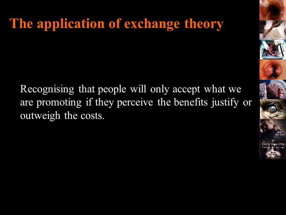 The application of exchange theory