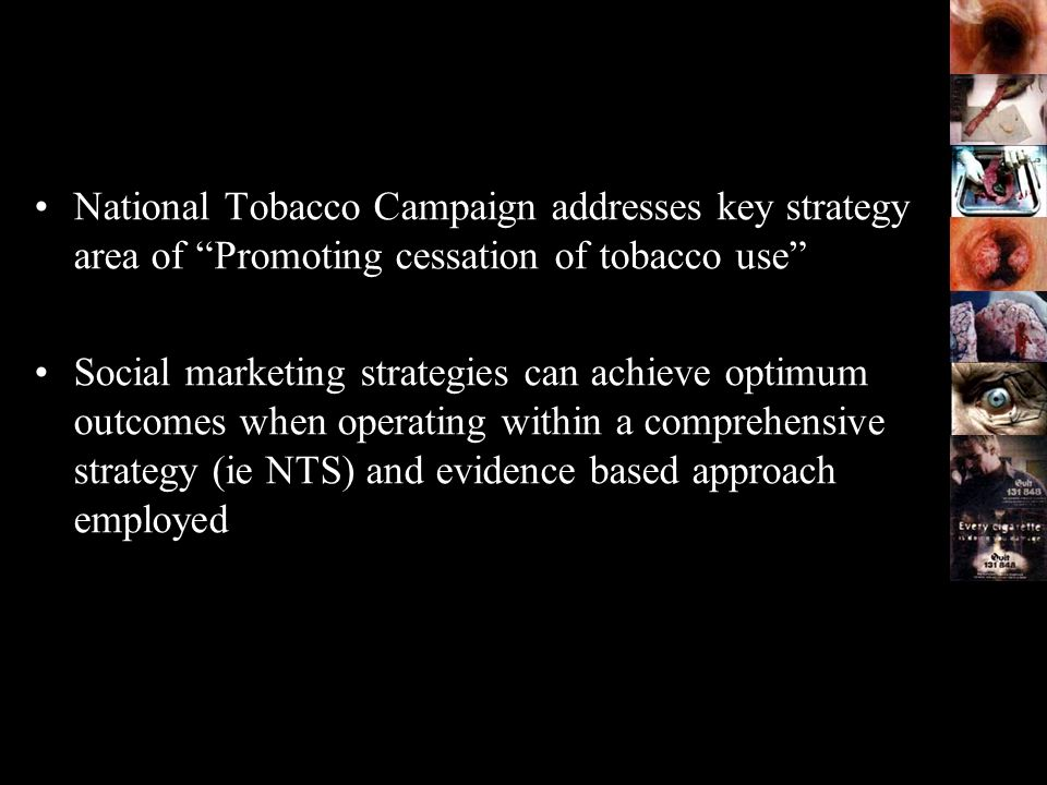 National Tobacco Campaign addresses key strategy area of Promoting cessation of tobacco use