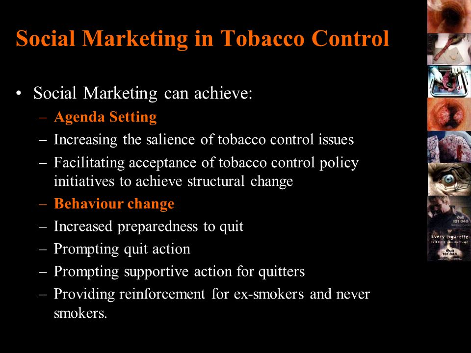 Social Marketing in Tobacco Control