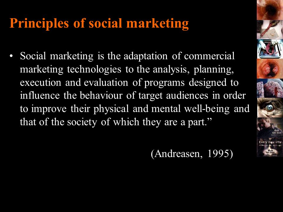 Principles of social marketing