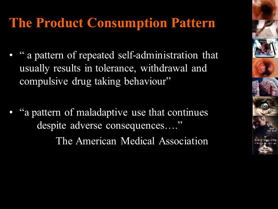 The Product Consumption Pattern