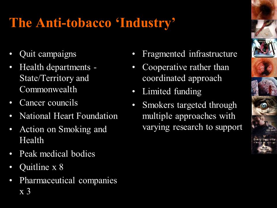 The Anti-tobacco 'Industry'