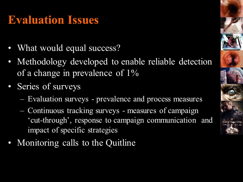 Evaluation Issues What would equal success