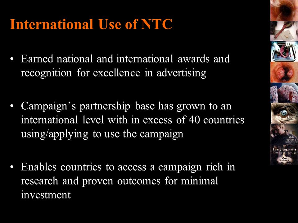 International Use of NTC