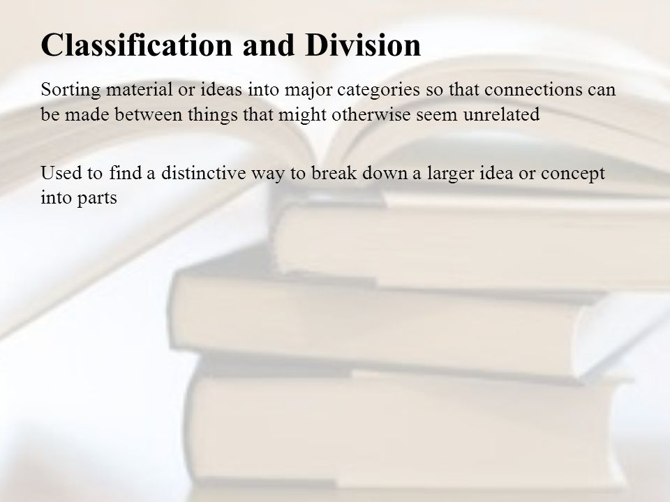 Classification and Division