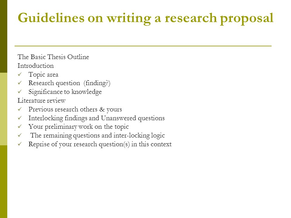 Writing a literature review for research proposal