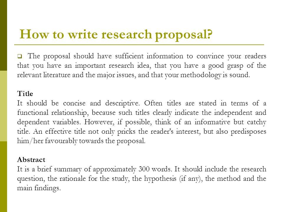 Research Proposal Drtmkatunzi 4 August Ppt Video Online Download