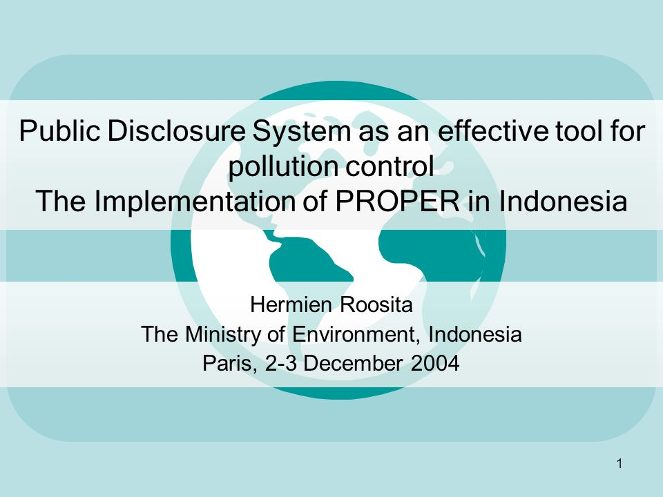 The Ministry of Environment, Indonesia