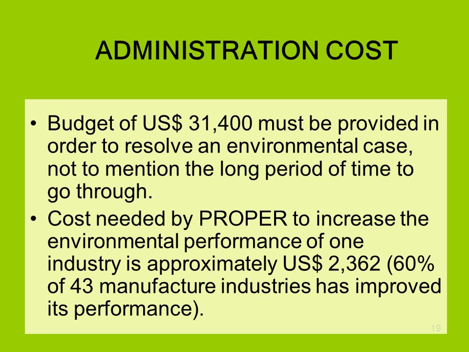 ADMINISTRATION COST