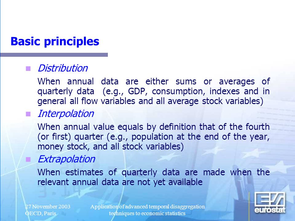 Basic principles Distribution