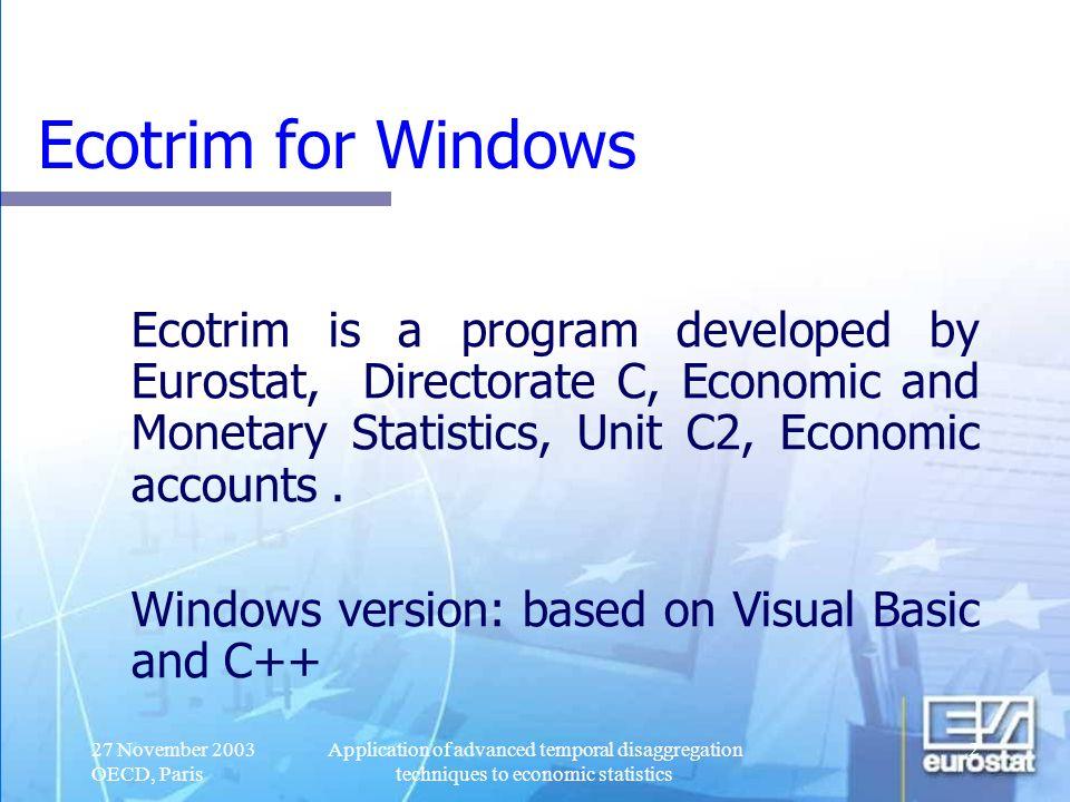 27/03/2017 Ecotrim for Windows.