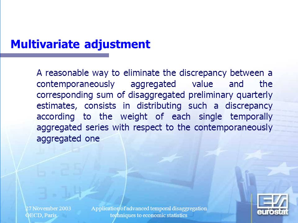 Multivariate adjustment