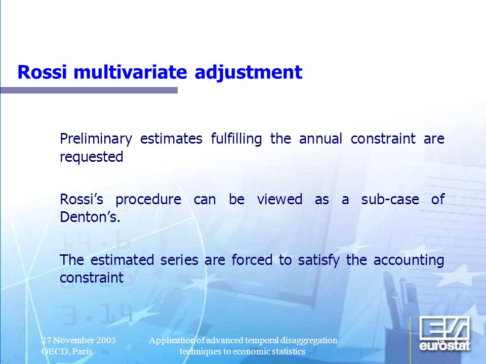 Rossi multivariate adjustment