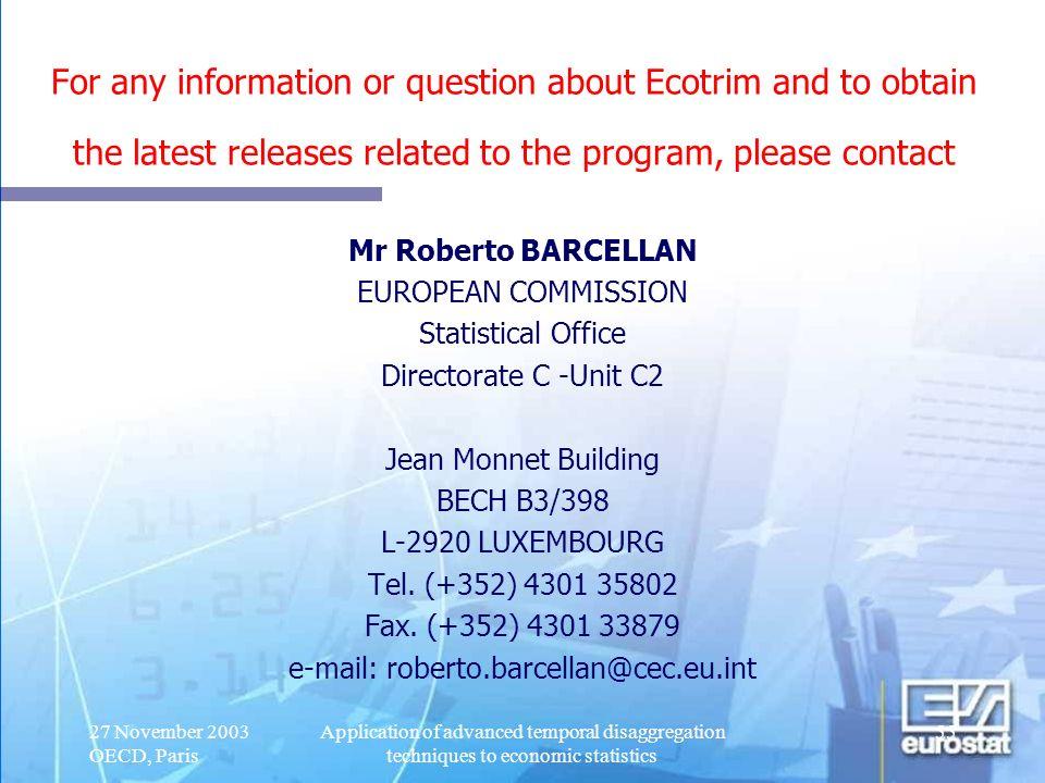 e-mail: roberto.barcellan@cec.eu.int
