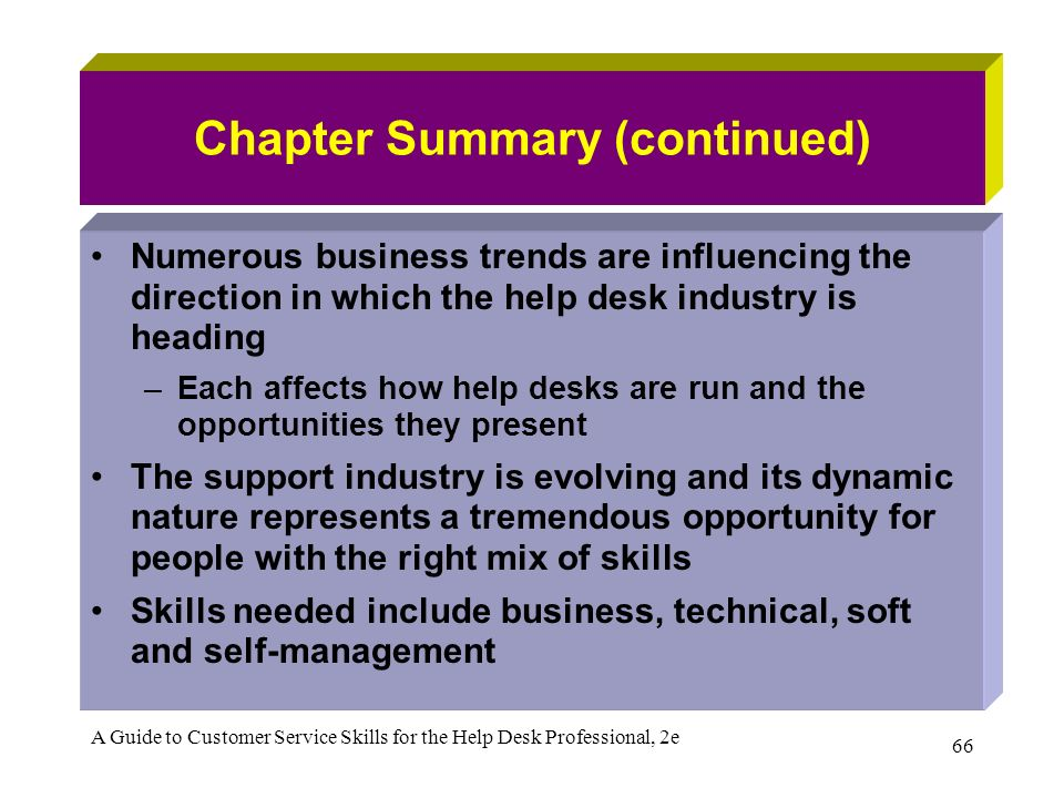 summary of customer service skills