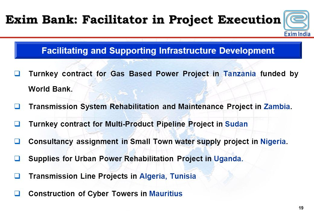 Exim Bank: Facilitator in Project Execution