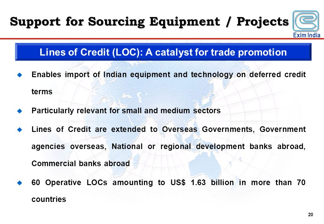 Lines of Credit (LOC): A catalyst for trade promotion