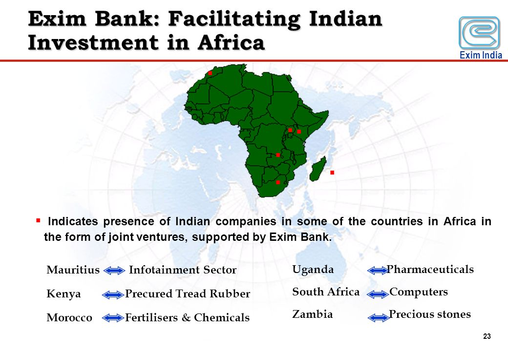 Exim Bank: Facilitating Indian Investment in Africa