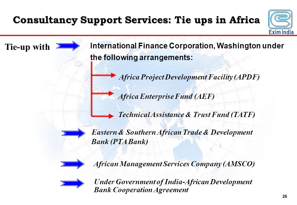 Consultancy Support Services: Tie ups in Africa