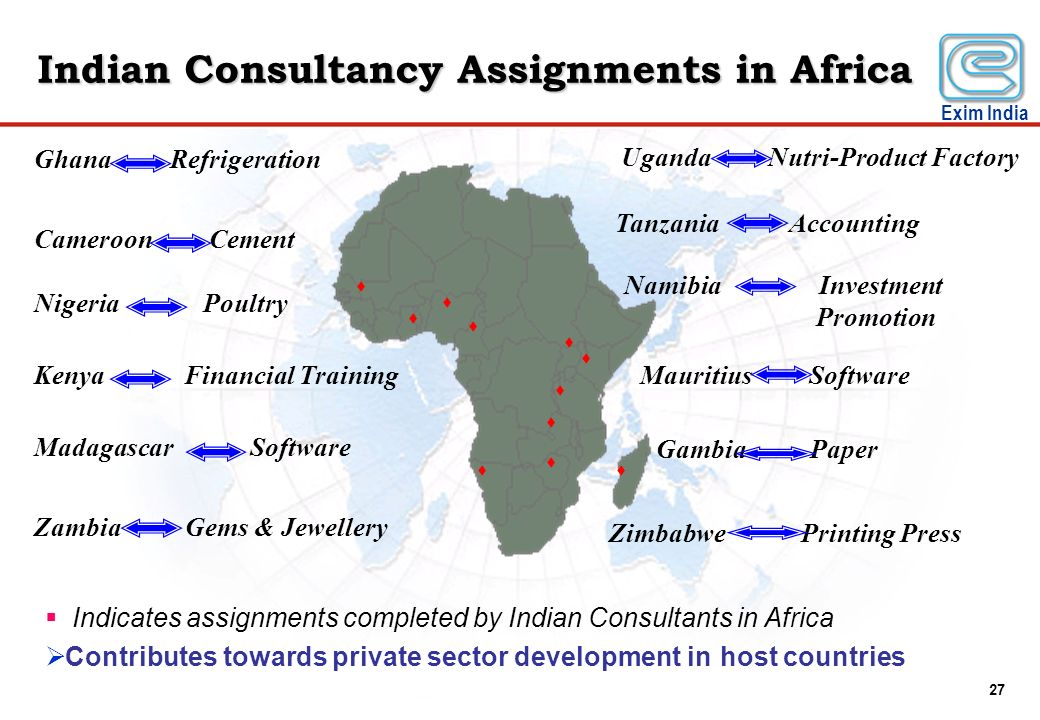 Indian Consultancy Assignments in Africa