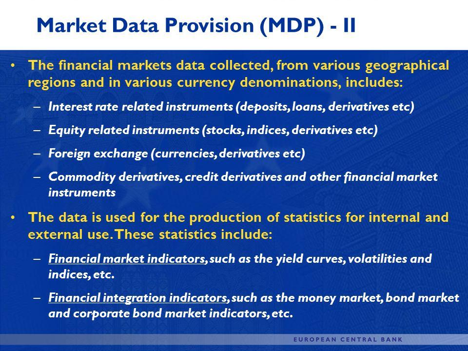 Market Data Provision (MDP) - II