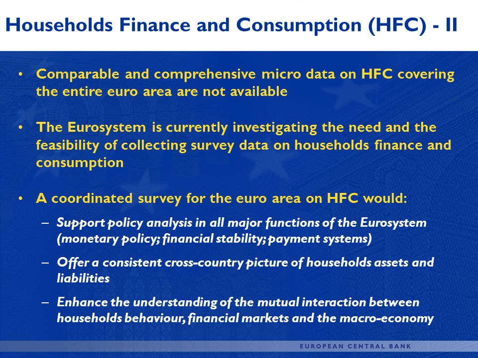 Households Finance and Consumption (HFC) - II