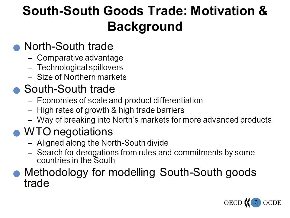 South-South Goods Trade: Motivation & Background