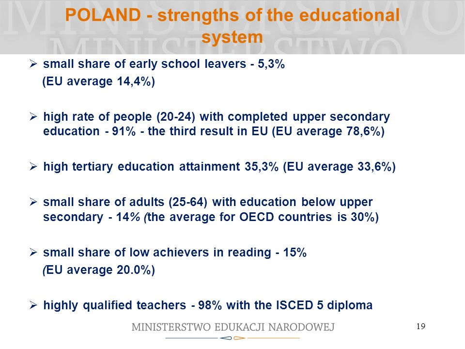 POLAND - strengths of the educational system