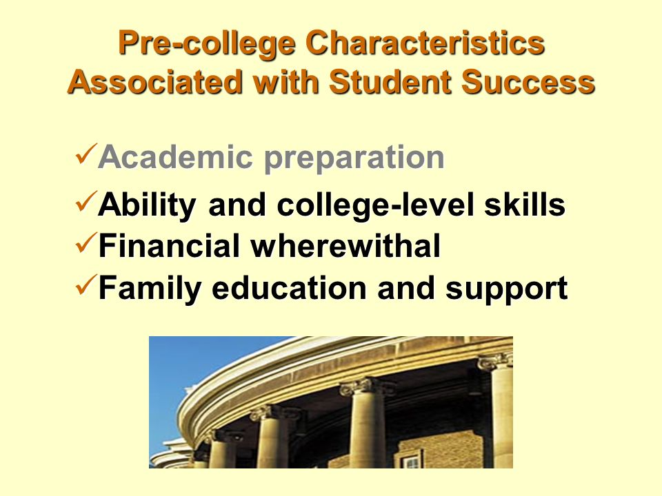 characteristics of successful college students Read this essay on characteristics of a successful college students come  browse our large digital warehouse of free sample essays get the knowledge  you.