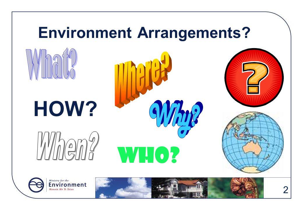 Environment Arrangements