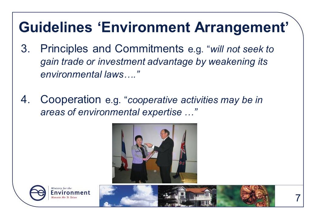 Guidelines 'Environment Arrangement'