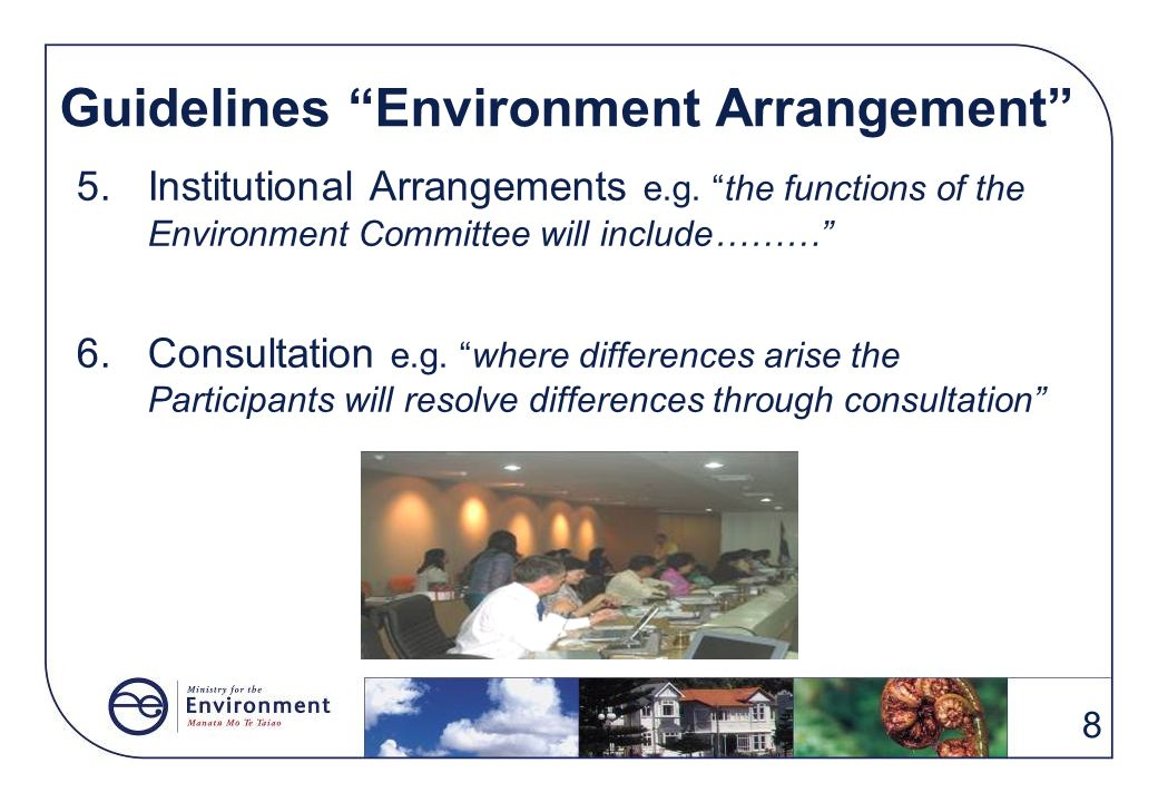Guidelines Environment Arrangement