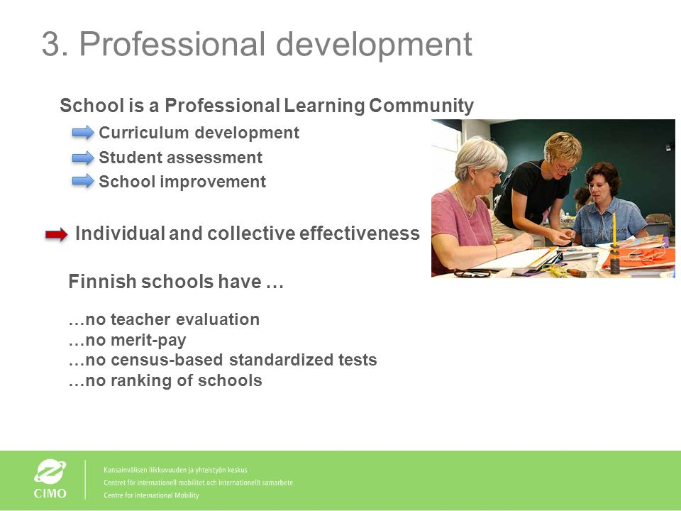 3. Professional development