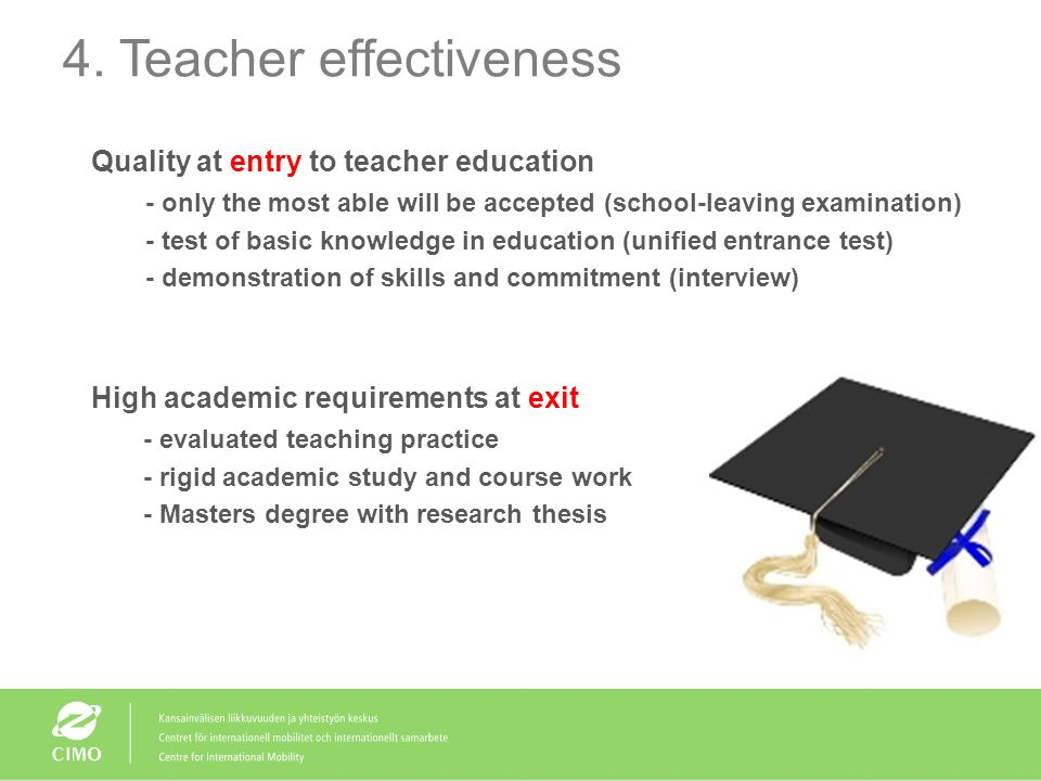 4. Teacher effectiveness