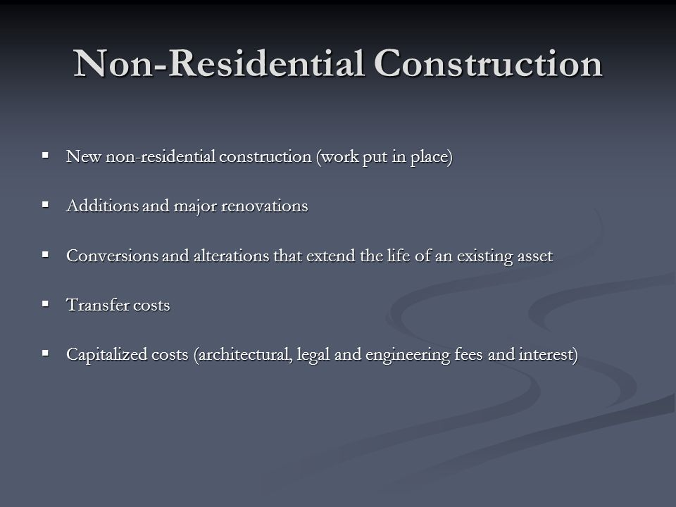 Non-Residential Construction