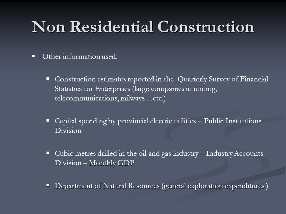 Non Residential Construction
