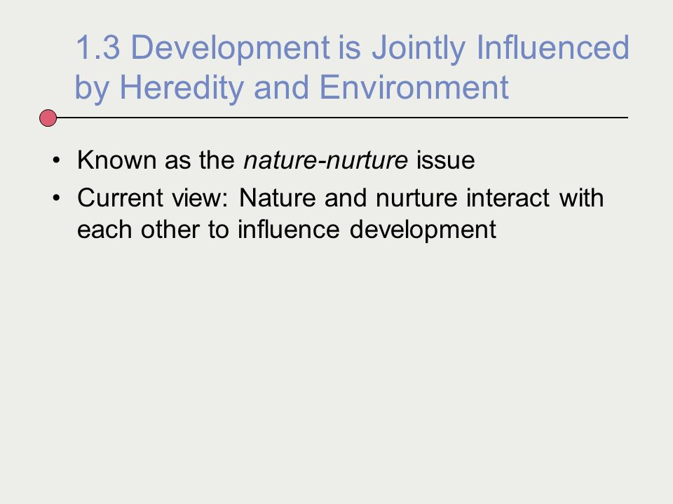 """nature and nurture interact Abstract the sophistry of the """"nature versus nurture"""" formulation is becoming ever more apparent as a consequence of the rapid advances in understanding of the basic mechanisms of heredity."""