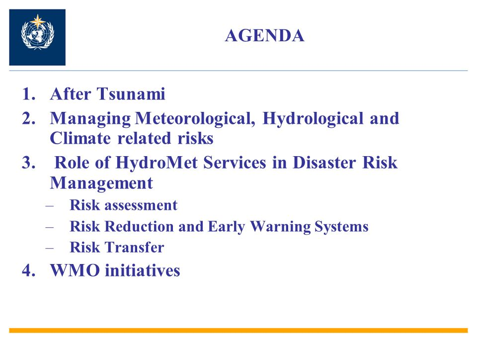 Managing Meteorological, Hydrological and Climate related risks