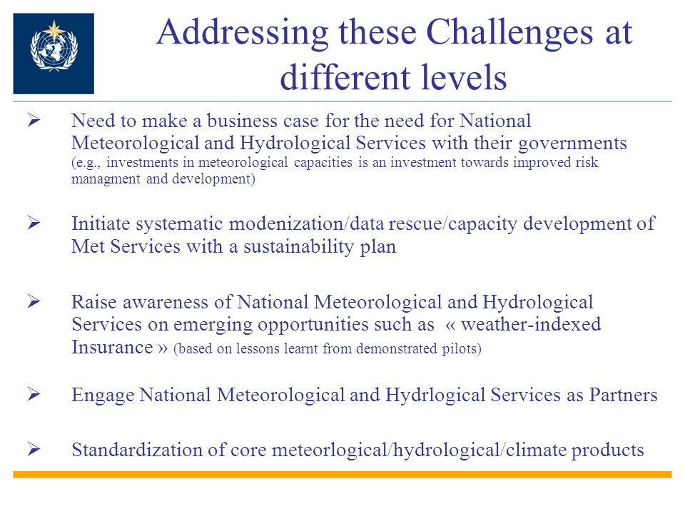 Addressing these Challenges at different levels
