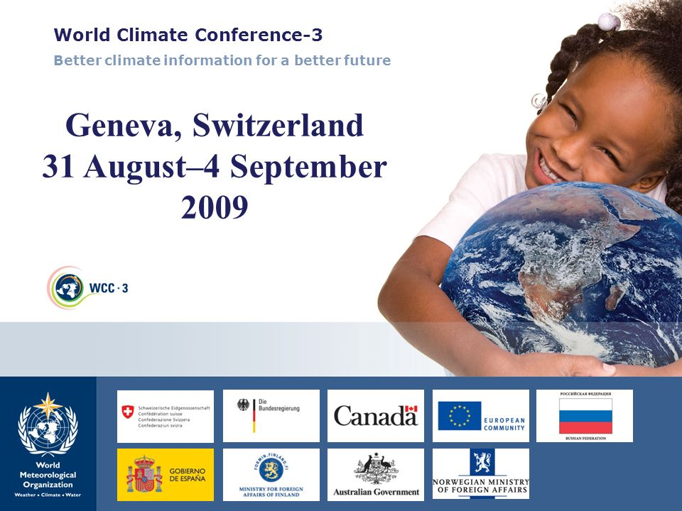 Geneva, Switzerland 31 August–4 September 2009