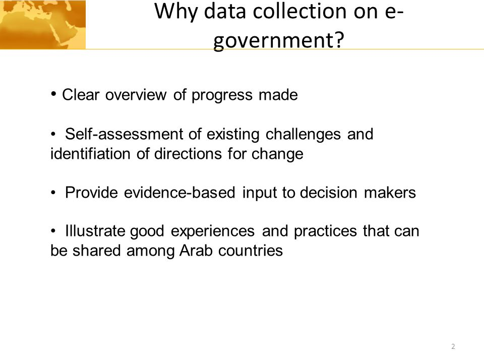 Why data collection on e-government