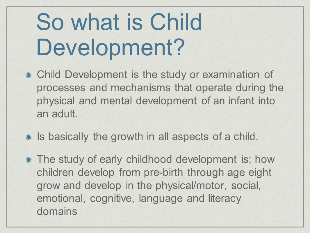 Child development child development in infancy for Physical and motor development in early childhood