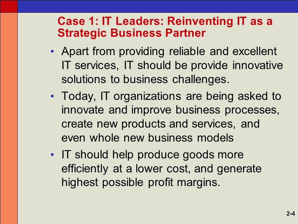 It leaders reinventing it as a strategic business partner