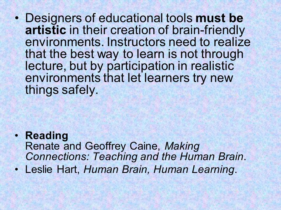 making connections teaching and the human brain pdf