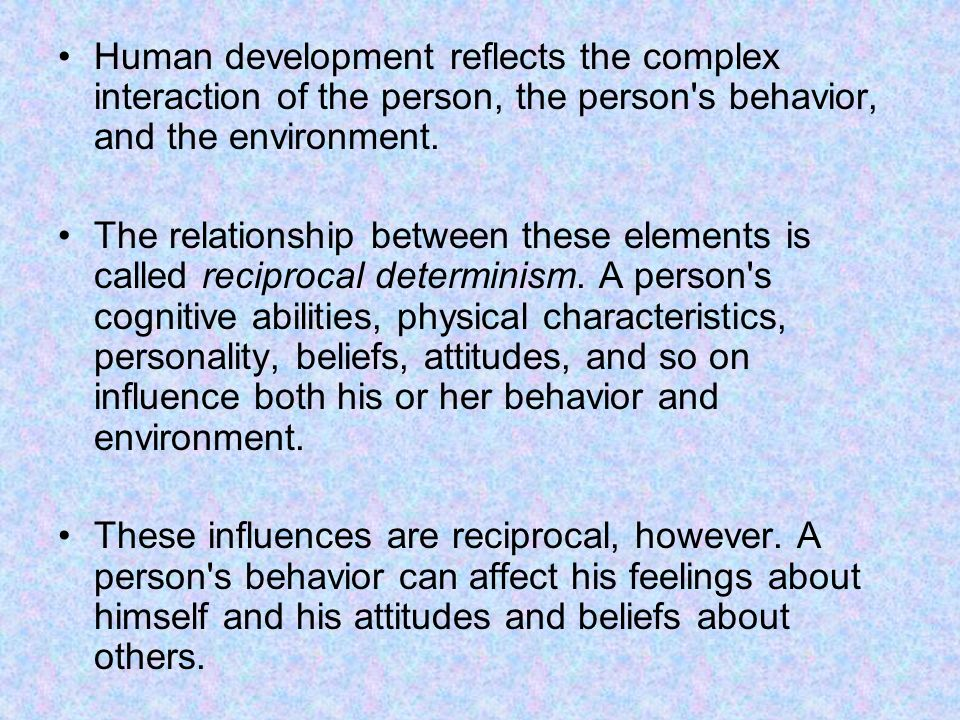 the relationship context of human behavior and development