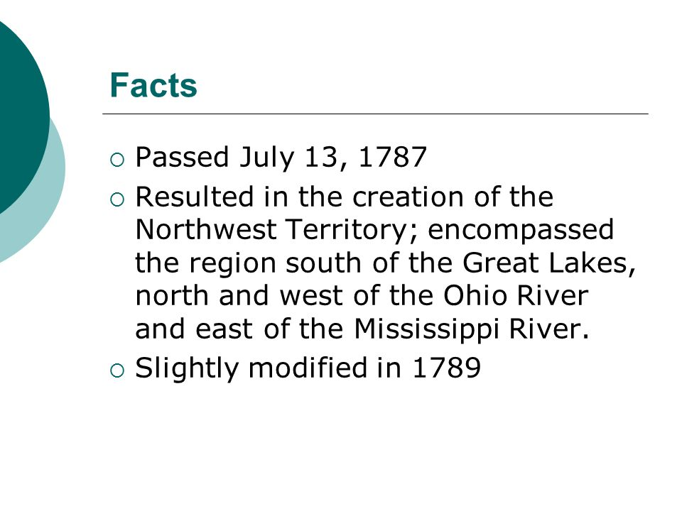 Northwest Ordinance Overview Ppt Video Online Download - Facts about the west region