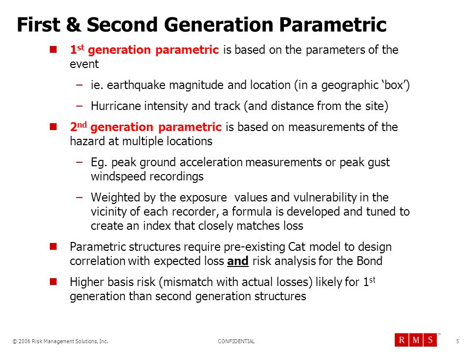 First & Second Generation Parametric