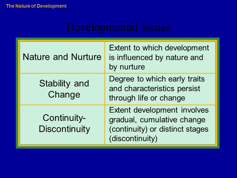 What Is Continuity Versus Discontinuity in Developmental Psychology?