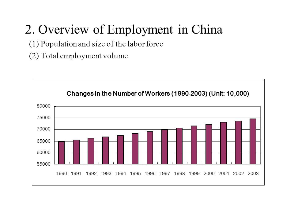 2. Overview of Employment in China