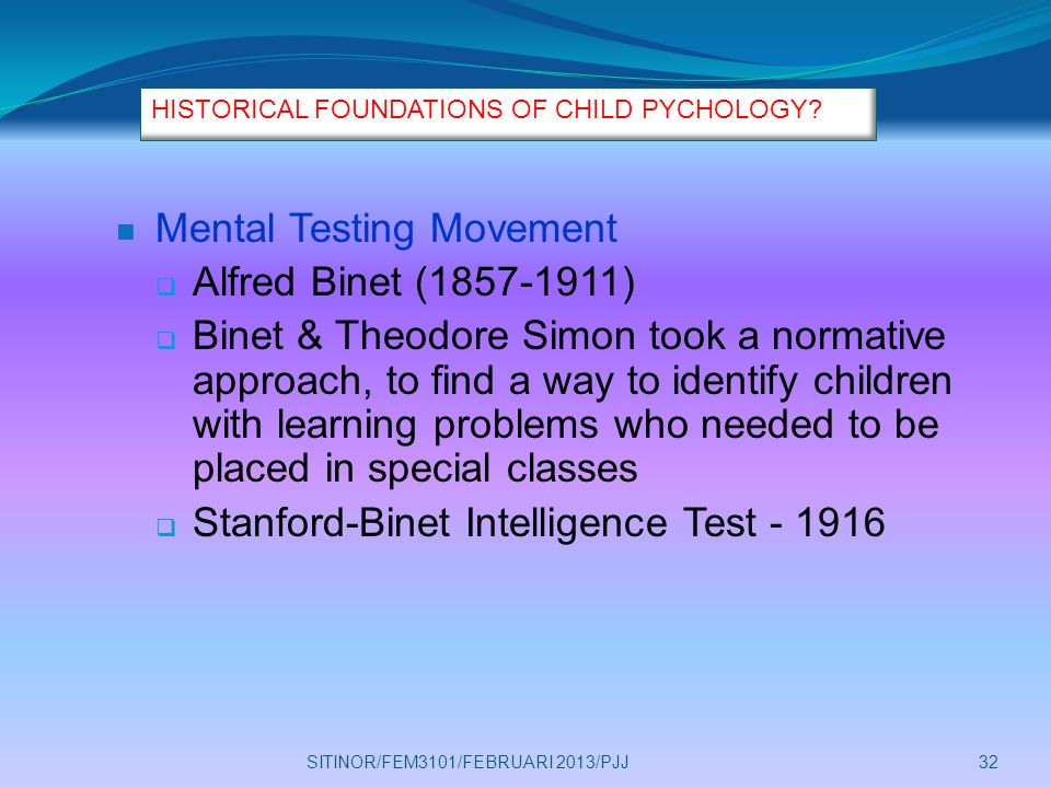 psychology testing movement the contributions of Francis galton (1822-1911) was  history of intelligence testing in psychology 4:34  sir francis galton: intelligence, eugenics & fingerprints related study.